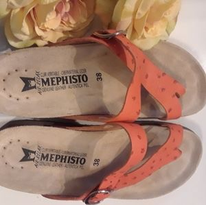 Coral MEPHISTO Air-Relax Genuine Leather Sandals